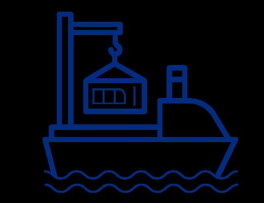 ocean freight icon